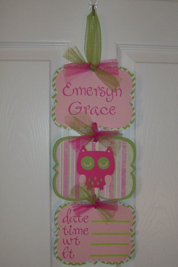 Baby Girl Hospital Door Banner   Girl Door Sign  by KatlinLee123,