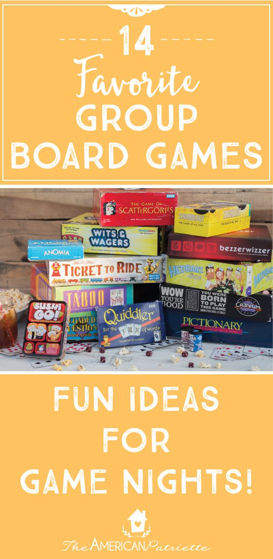 Favorite Board Games; Game Night; Fun Family Activities