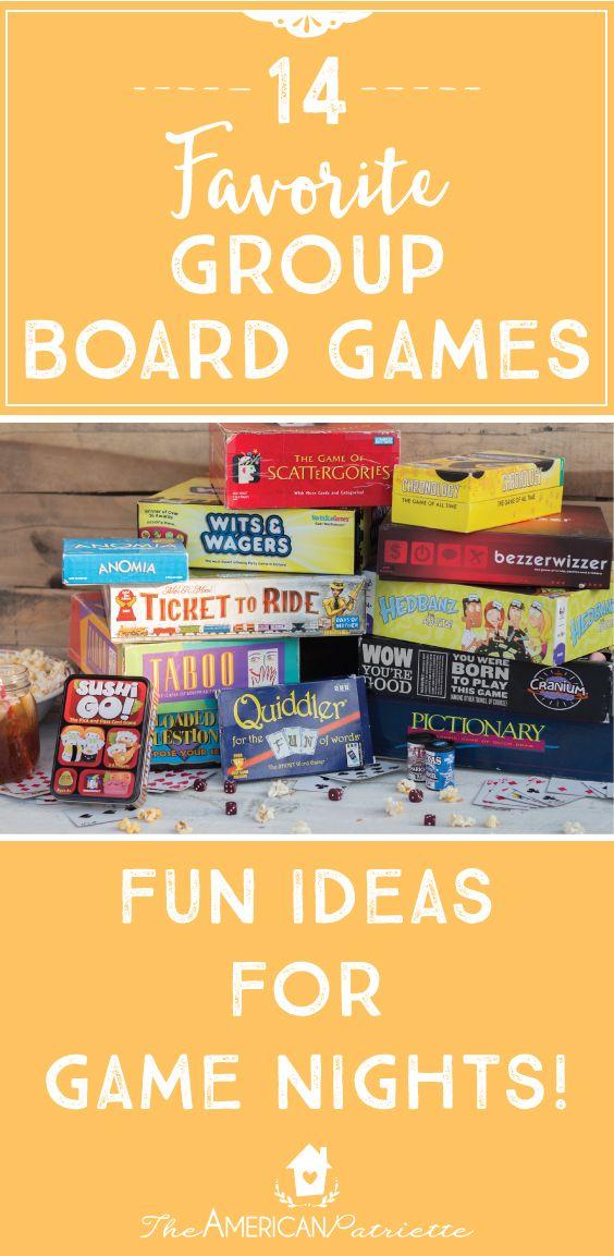 Favorite Board Games; Game Night; Fun Family Activities
