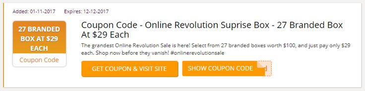 The grandest Online Revolution Sale is here! Select from 27 branded boxes worth $100, and just pay only $29 each. Shop now before they vanish! #onlinerevolutionsale #Lazada_Voucher_Codes #BlackFriday #BlackFridaySG #Singapore #Lazada_promo_codes #Lazada_coupon_codes #Lazada_discount_code #Singapore #BlackFriday #BlackFridaySG #BlackFriday2017 #BlackFridaySale #Black_Friday https://sg.collectoffers.com/lazada