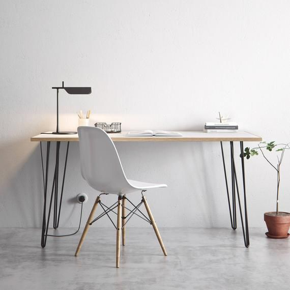 Hairpin Desk And Dining Table White Formica Birch Plywood Our Best Selling Pins All Sizes In 2020 Furniture Legs Hairpin Desk Furniture