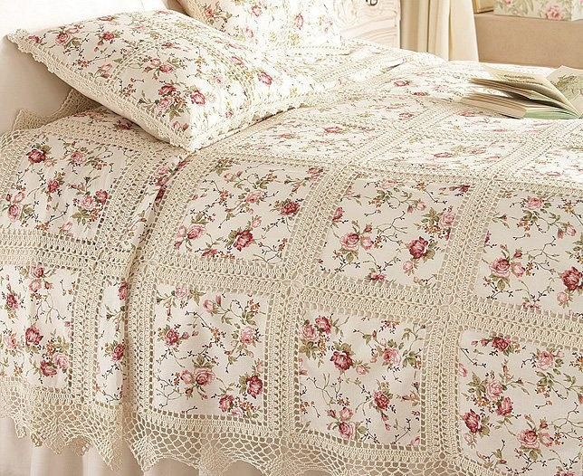 Crochet Fabric : Roses, fabric, and crochet. Crochet Pinterest