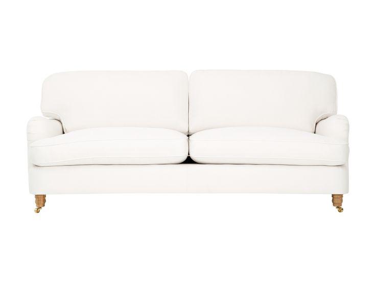 HOWARD-DELUXE 3-sits Soffa Vit i gruppen Inomhus / Soffor / Howardsoffa hos Furniturebox (110-32-68117s)