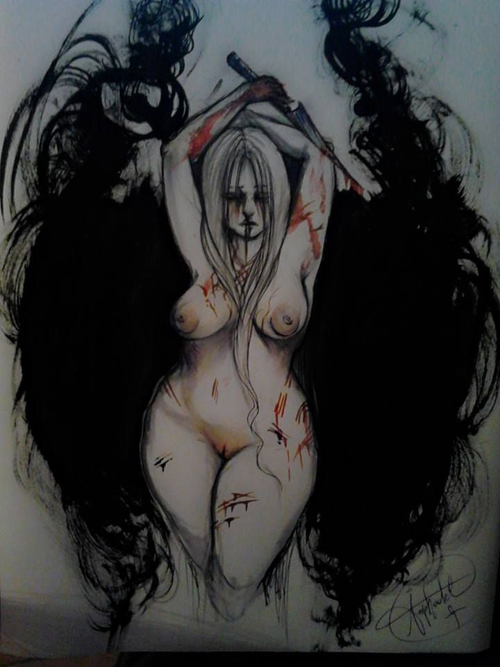 Erika Asphodel - illustration - #inktober #inktober2015 #inktobersonsy #massoneriacreativa - www.massoneriacreativa.com