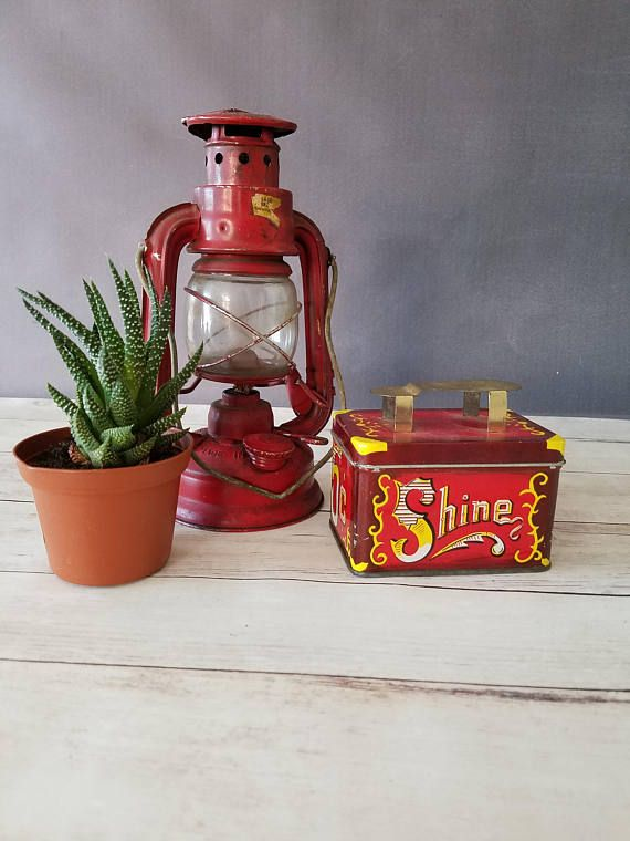 Shine Tin/ Shoe Shine Tin/ Vintage Tin/ Small Tin/ Tin Box/