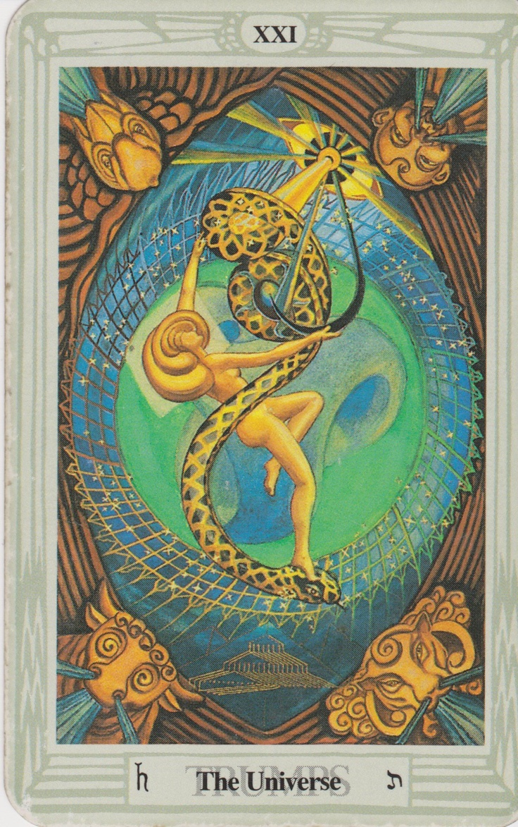 'The Universe' Tarot Card From The Thoth Deck By Aleister