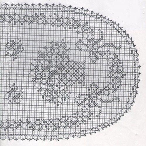 basket of flowers oval