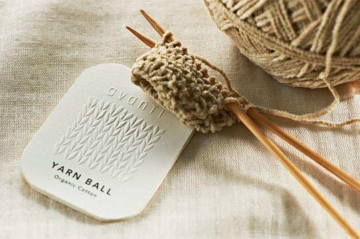 yarn ball tag for pristine / daikoku design institute.