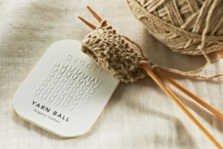 yarn ball tag for pristine / daikoku design institute.