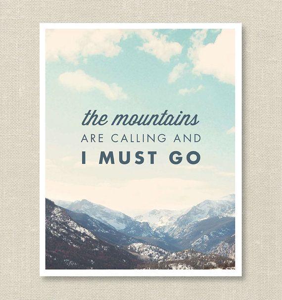 Die Berge fordern 8 x 10 Print von BelovedAndCo auf Etsy