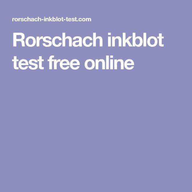 Rorschach inkblot test free online