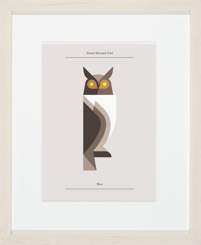 Lumadessa posters   Great Horned Owl - Silver Edition: Birds Prints, Owl Prints, Art Prints, Illustration, Graphics Design, Great Horns Owl, Josh Brill, Products, Great Horned Owl