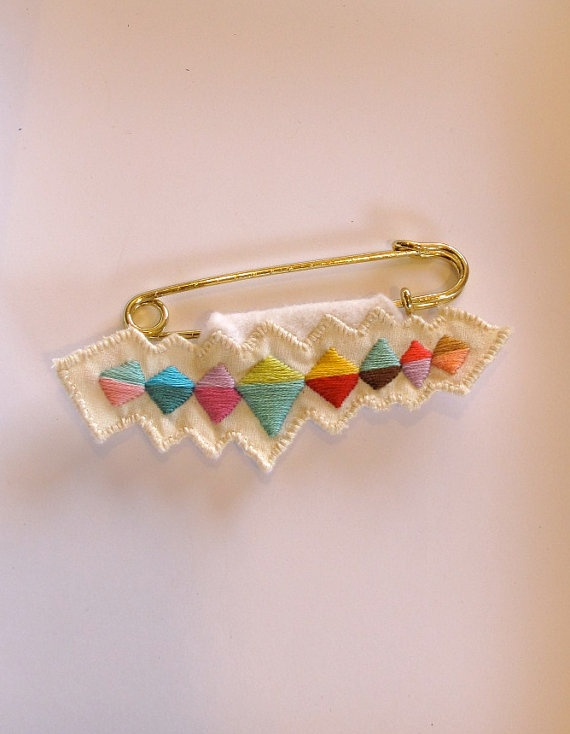 Embroidered sweater pin bright colors banner by AnAstridEndeavor