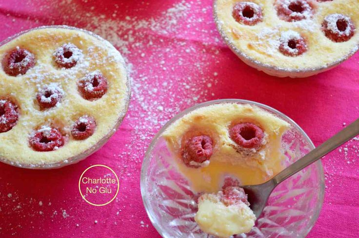 Baked lemon and raspberry custard (gluten and dairy free)
