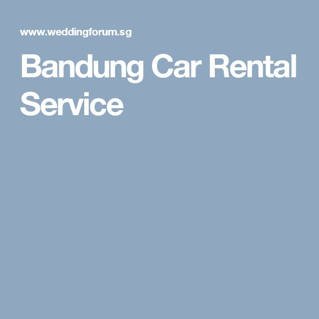 Bandung Car Rental Service