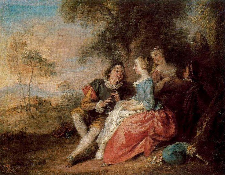 'Erwägungsgrund der Flauta' von Jean-Baptiste Pater (1695-1736, France)