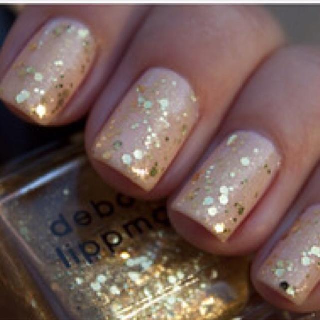 Light pink with gold flecks