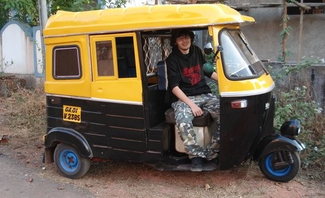 Auto rickshaw in Goa, India
