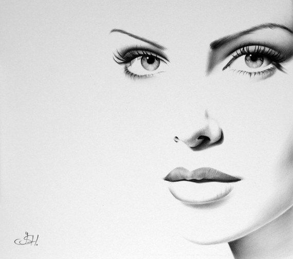 ART :: Charlize Theron Pencil Drawing - Fine Art Print by Ileana Hunter