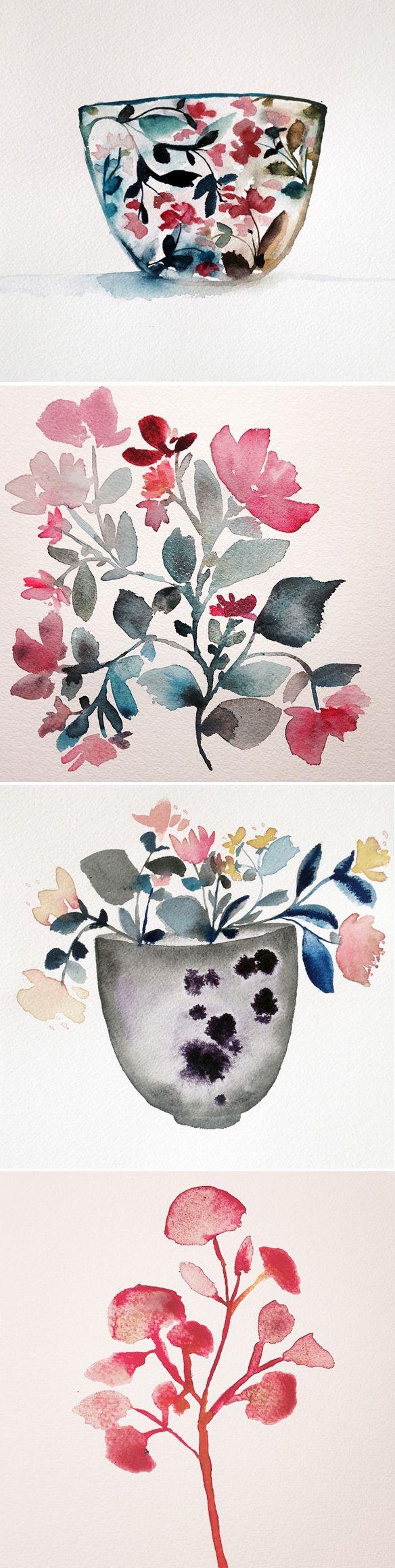 watercolors by kiana mosley