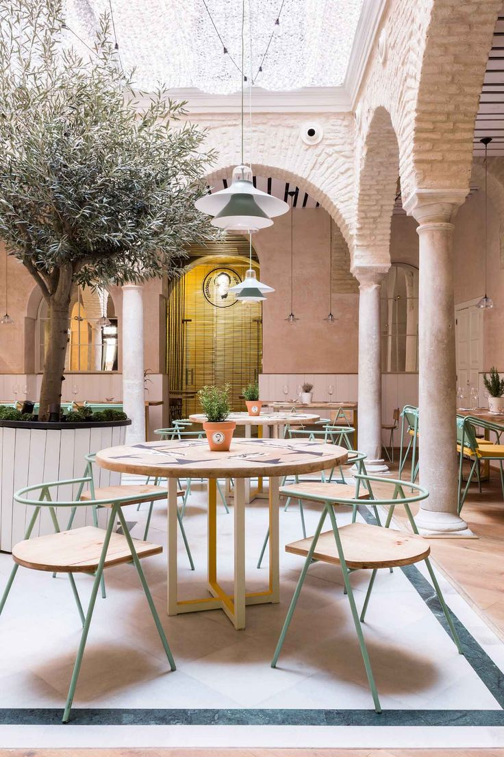 Ikono pendants hanging beautifully in stunning 'El Pintón' in Sevilla by Lucas y Hernández-Gil Architects | Yellowtrace