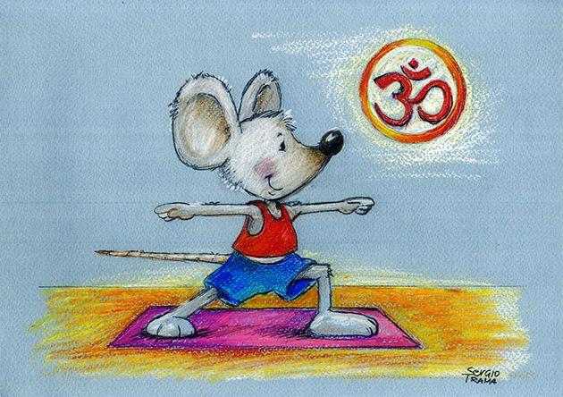 Warrior - Guerriero - Yoga - Non esistono grandi guerrieri. La guerra non fa grande nessuno.  Illustration Friday è un sito per illustratori ed artisti di ogni livello che tutte le settimane, di venerdì appunto, lancia una sfida ai propri iscritti, proponendo un tema da sviluppare. C'è chi partecipa con disegni.