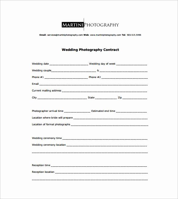 Portrait Photography Contract Template Elegant Graphy Contract 9 Downlo Wedding Photography Contract Wedding Photography Contract Template Photography Contract
