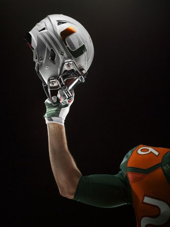 NIKE, Inc. - Miami Hurricanes Unveil New 2014 Nike Football Uniform Design - Helmet