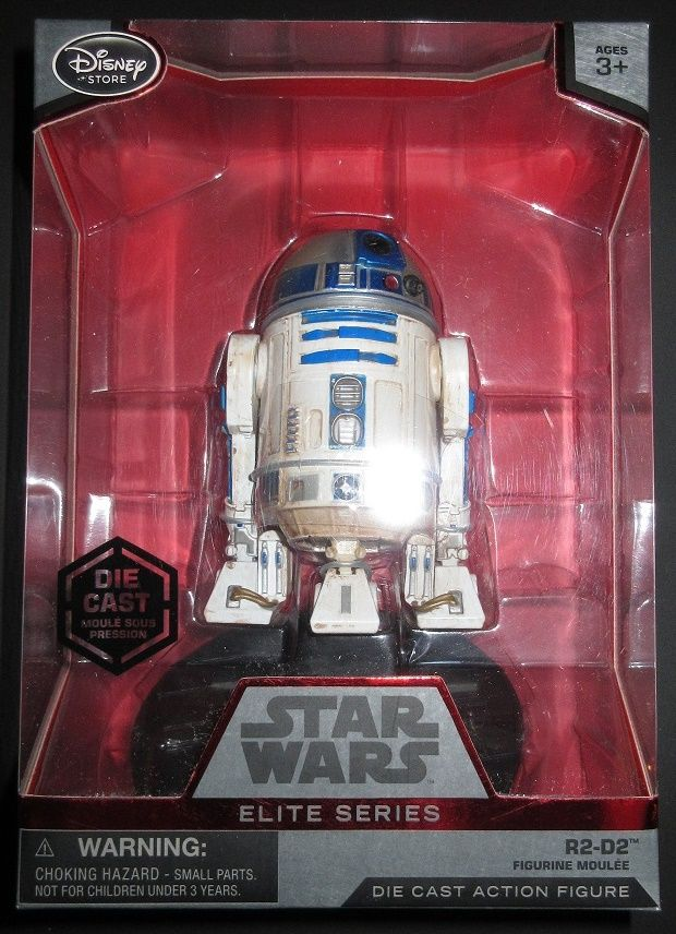 """DISNEY STORE STAR WARS ELITE SERIES R2-D2 4"""" DIE CAST COLLECTIBLE FIGURE  This R2-D2 Die Cast figure is brand new and unopened. You will be receiving the exact item that is pictured. This hard to find item is now SOLD OUT and can no longer be found for sale anywhere. Figure's height is approximately 4.25 inches tall and displays superb detail and quality!  more pictures upon request. $25 shipped within USA paypal accepted. contact me at PCx188@aol.com for further details."""