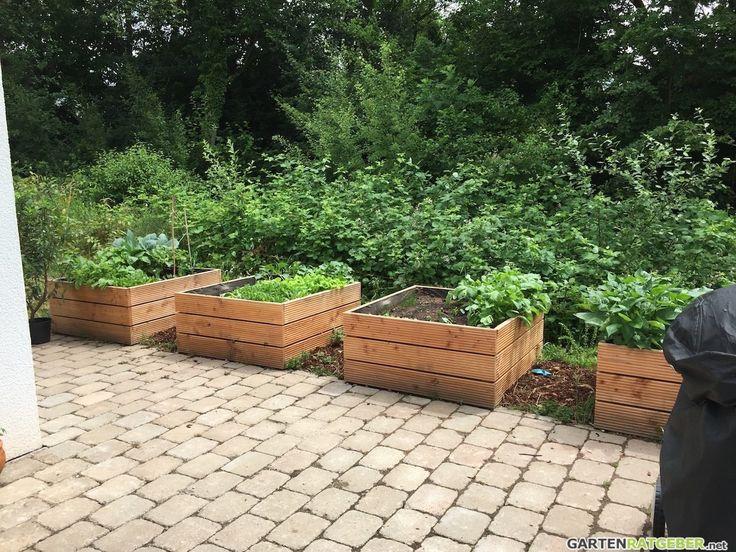 25+ Best Ideas About Hochbeet Holz On Pinterest | Paletten ... Pflanzkuebel Beton Modern Garten Hochbeet