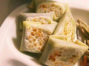 餃子の皮で!バジルチーズ包み