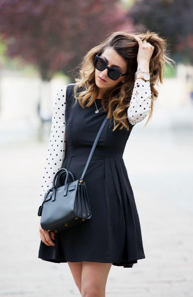 yves saint laurent handbags fake - classic baby sac de jour bag in black leather