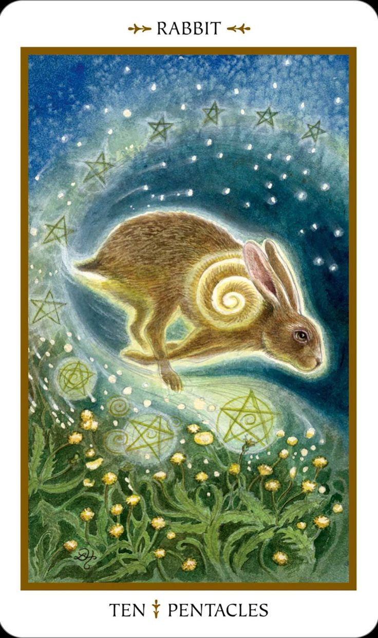Animals Divine Tarot: Ten Of Pentacles From Animals Divine Tarot. There Have