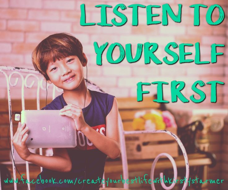 WHEN PEOPLE SAY LISTEN FIRST THEY DONT MEAN THIS... They dont mean --> take on board everyone elses opinions at the expense of your own --> ignore your own inner voice to please others --> listen to others at the expense of your own wellbeing --> let others tell you how to think or live --> shut up and put up --> put yourself last.  They DO mean: REALLY listen to the voice in your head. They do mean sit with that voice and CHOOSE what to do next. They do mean trust your instinct because…