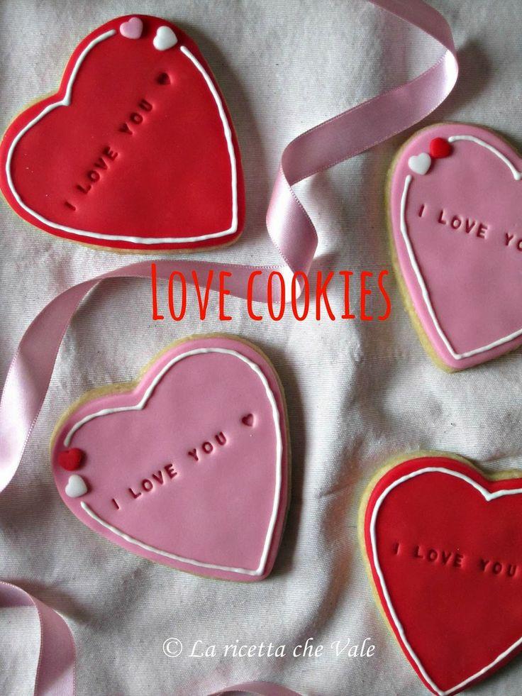 Love cookies - Biscotti a forma di cuore per San Valentino