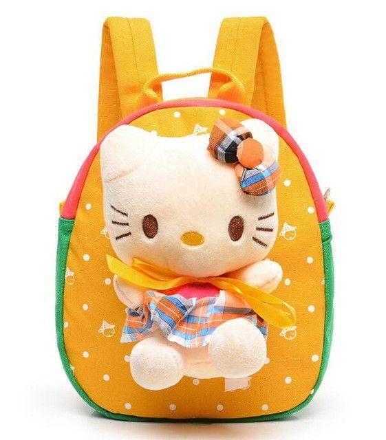 Baby Girls Boys School Bag Plush Backpack Cartoon Bear Cat Kids Brithday Gift Kindergarten Children School Bags Infant Backpacks