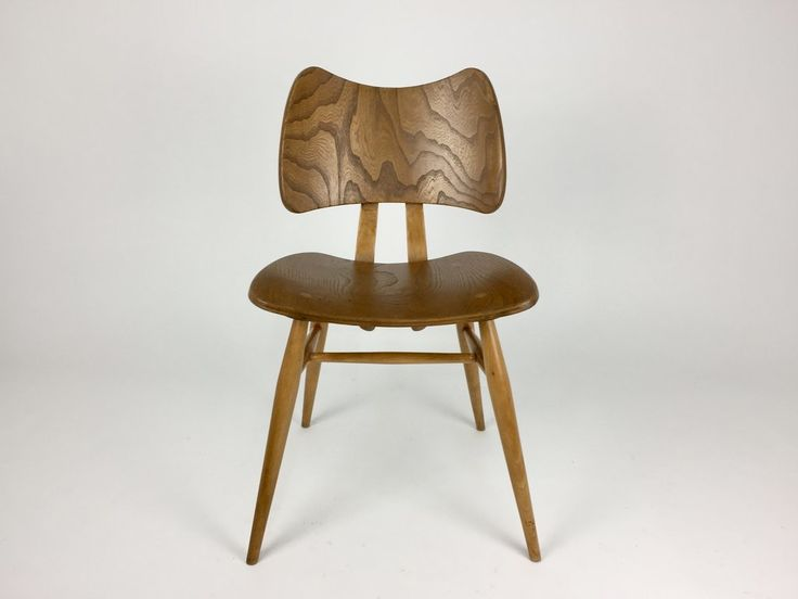 Mid century furniture: 1950s original Ercol Butterfly chair by Lucian Ercolani in elm and beech
