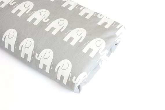 Baby Bedding  Cot Doona / Duvet Cover  White Elephants by raenne