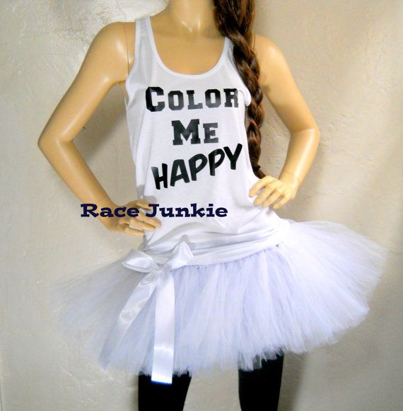 Please read the sizing chart on both the shirt and tutu before making your size selection.  ------Tanks or Tee--------  Perfect for all your races or