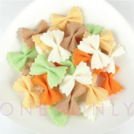 Items similar to FELT FOOD Bowtie Pasta on Etsy