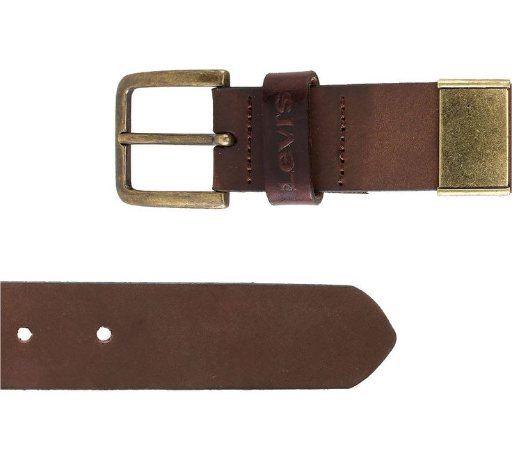 Single Buckle by Levi's. Leather belt with dark brown color, single buckle, levi's logo in front, single metal keeper. Single buckle belt with masculine style, this belt sure will bring your style to the next level. http://www.zocko.com/z/JErm7