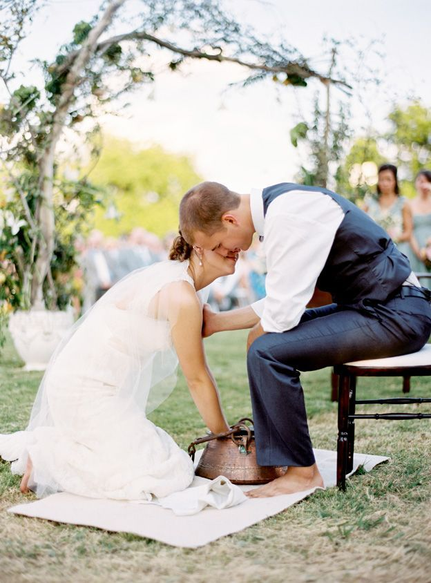 foot washing after ceremony. If my husband and I ever do a vow renewal service I definitely want to remember this. I wish I would have heard of this idea for our wedding.