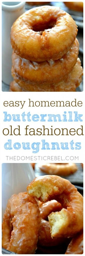 These EASY Homemade Buttermilk Old Fashioned Doughnuts are just like your favorite bakery's, but BETTER. So simple, so scrumptious and packed with amazing flavor!!
