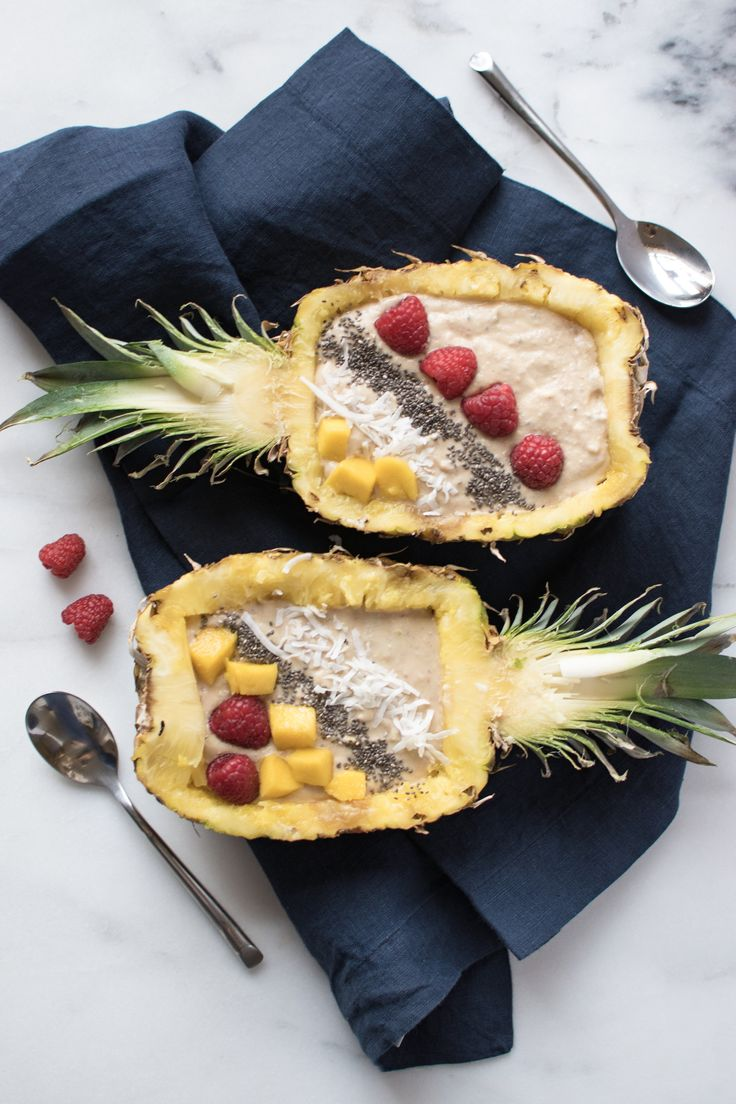 My pineapple mango smoothie bowls