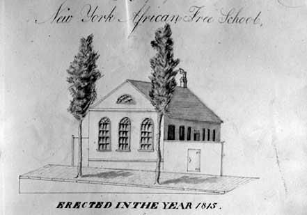 ...November 1, 1787 The first free school for African Americans, the African Free School was founded and commenced on this date as a one-room school at 245 Williams Street (although it would not have an official building until 1796) in New York City by John Jay(the first chief justice of the U.S. Supreme Court), Alexander Hamilton (the first Secretary of the Treasury) and other members of the New York Manumission Society, an organization that advocated the full abolition of African slaves.
