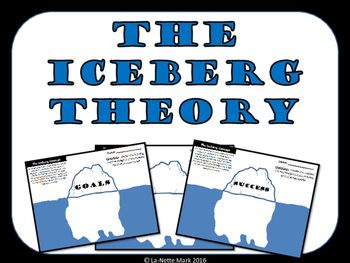 This simple and easy resource explains The Iceberg Theory. Students simply write the things they need to do to achieve their goals or lists they things it takes to be successful.