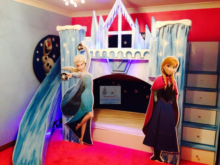 Disney frozen bunk beds kyah pinterest disney la for Chambre reine des neiges