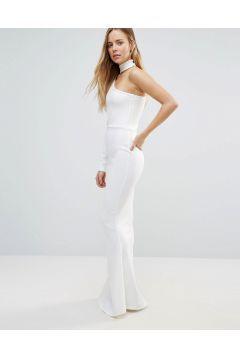 Daisy Street One Shoulder Column Maxi Dress - White #modasto #giyim #moda https://modasto.com/daisy-street/kadin/br41736ct2