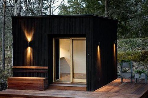 Schicke Sauna-Hütte