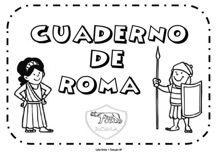Trabajo por proyectos Cuaderno para trabajar Roma aprendemos coloreando